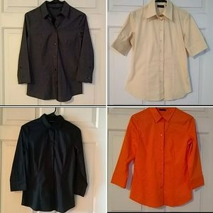 Four button up workshirts